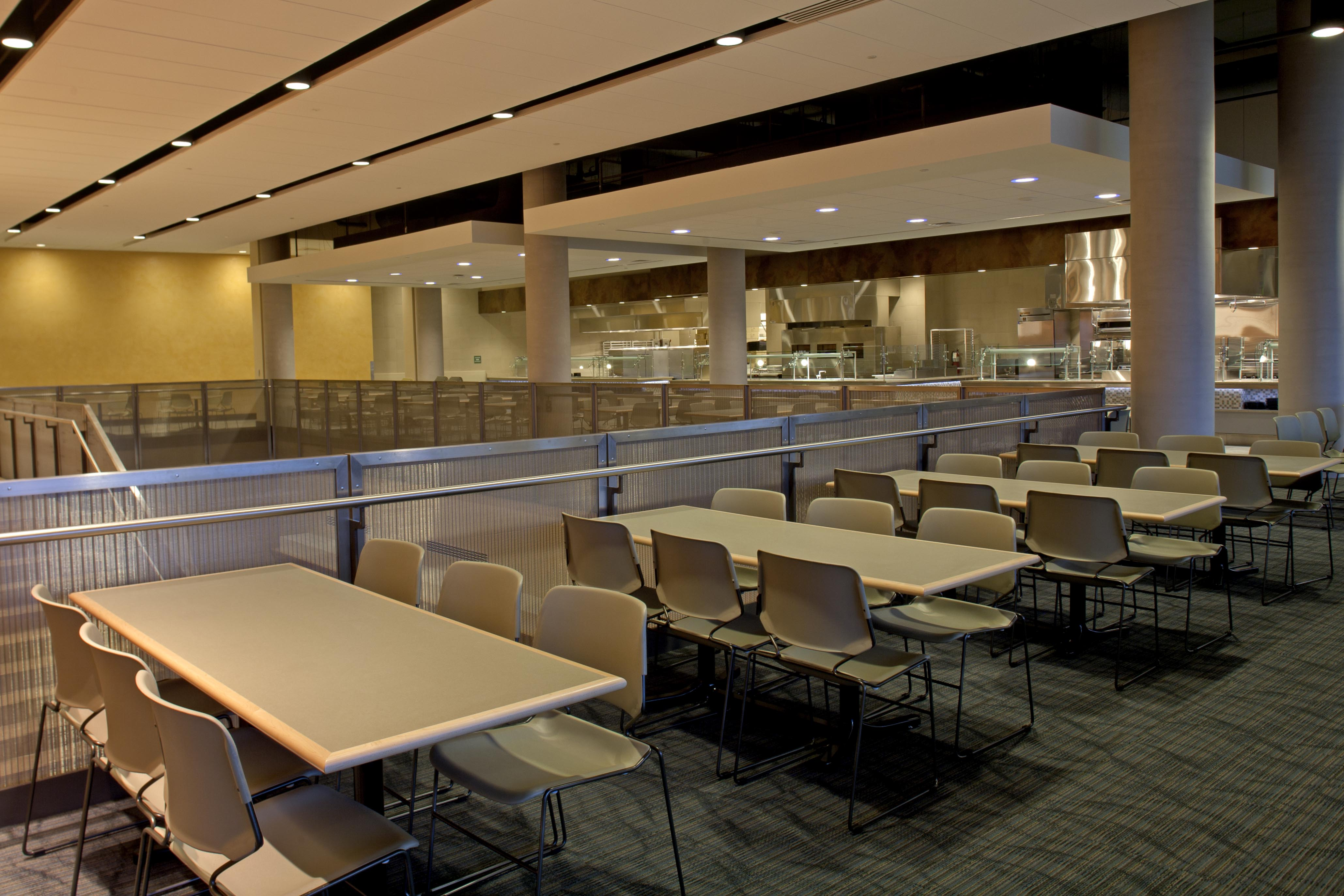 Banker Wire mesh is often used in dining spaces to balance privacy and light transmission.