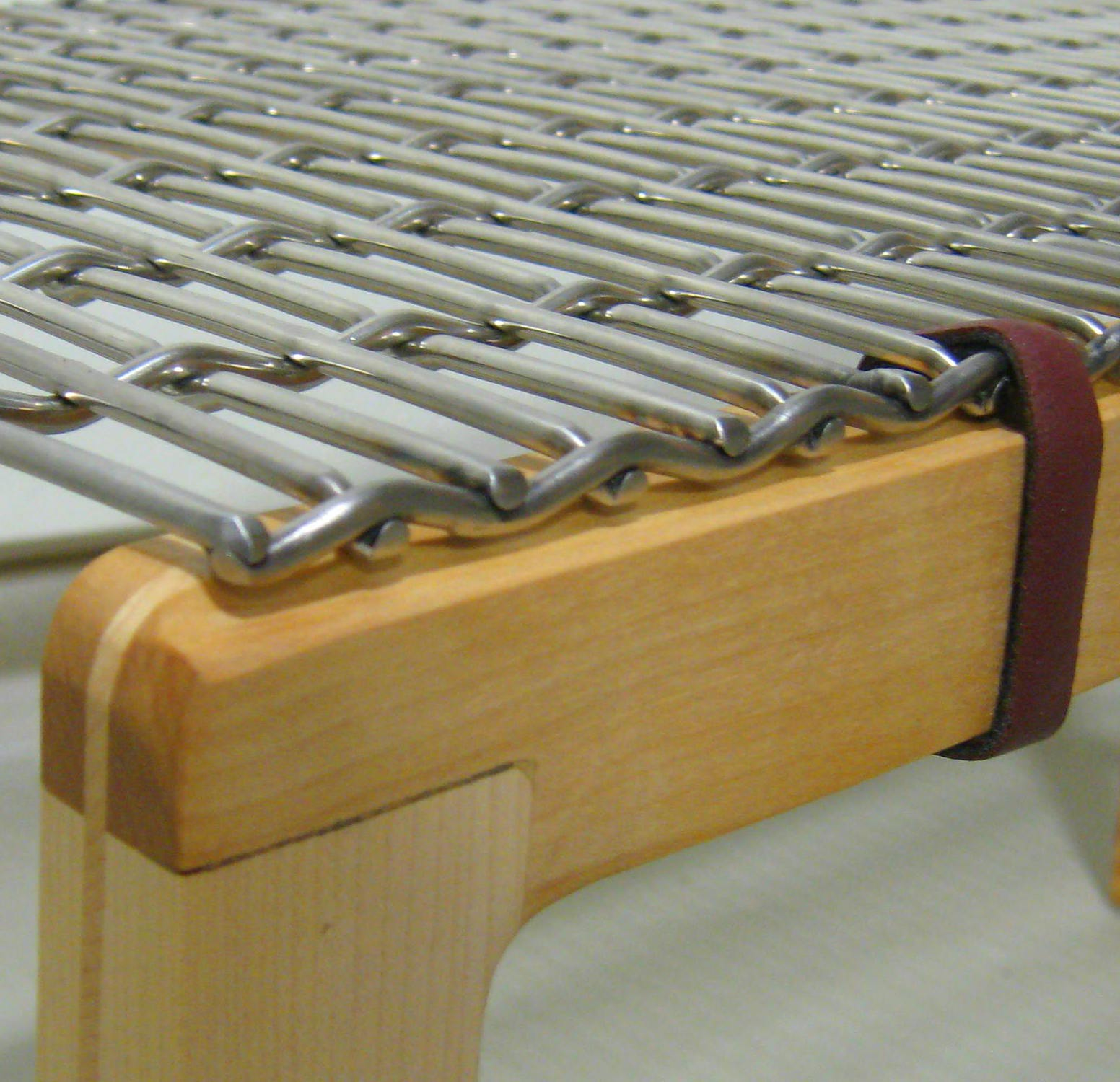 The smooth top surface makes this mesh the perfect choice for the custom crafted bench surfaces.