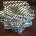 Notched and formed wire mesh
