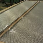 Using press brake to bend wire mesh sides