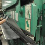 Bending mesh on press brake