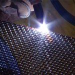 Flush Trim and Weld woven wire mesh edge treatment