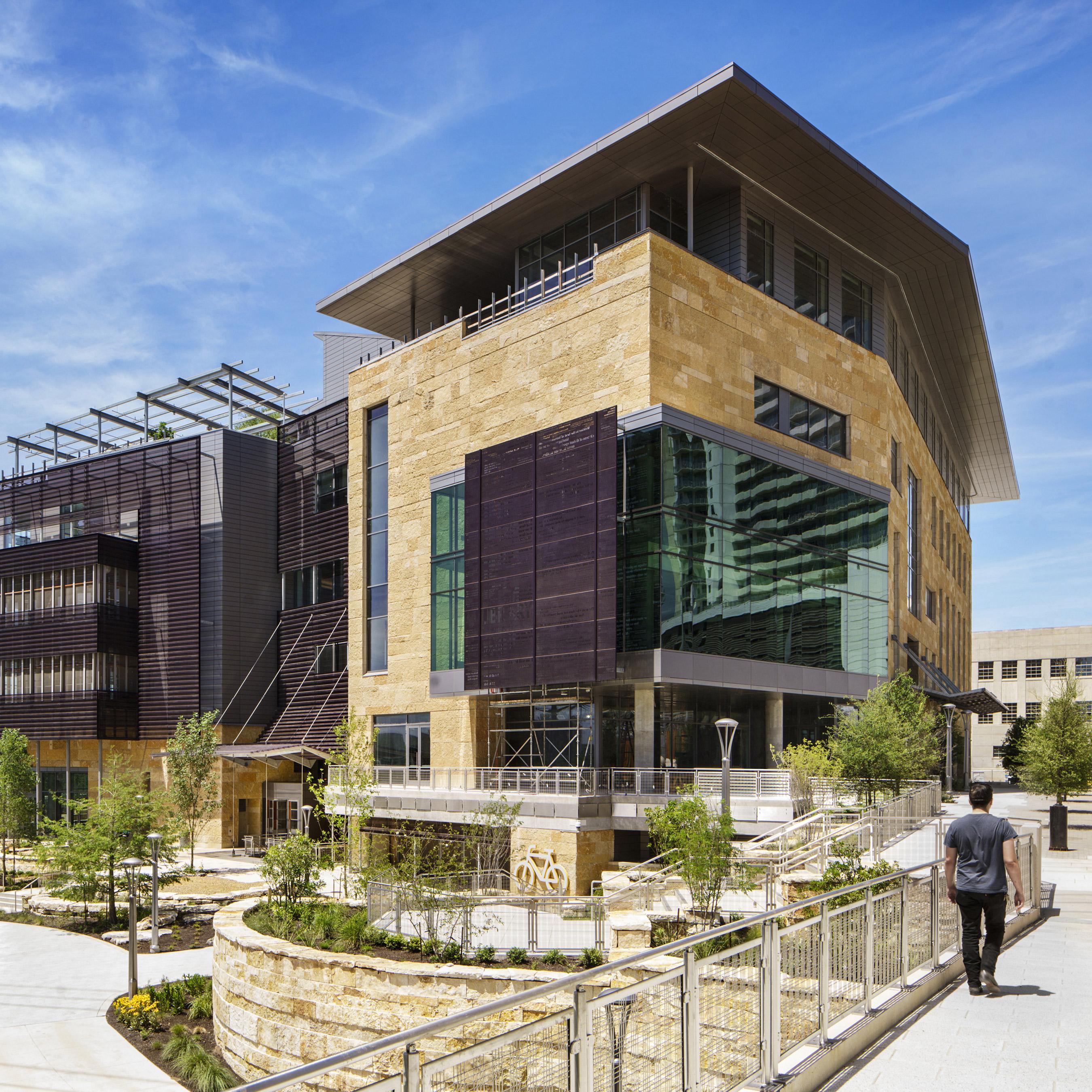 Austin Public Library and Second Street Bridge