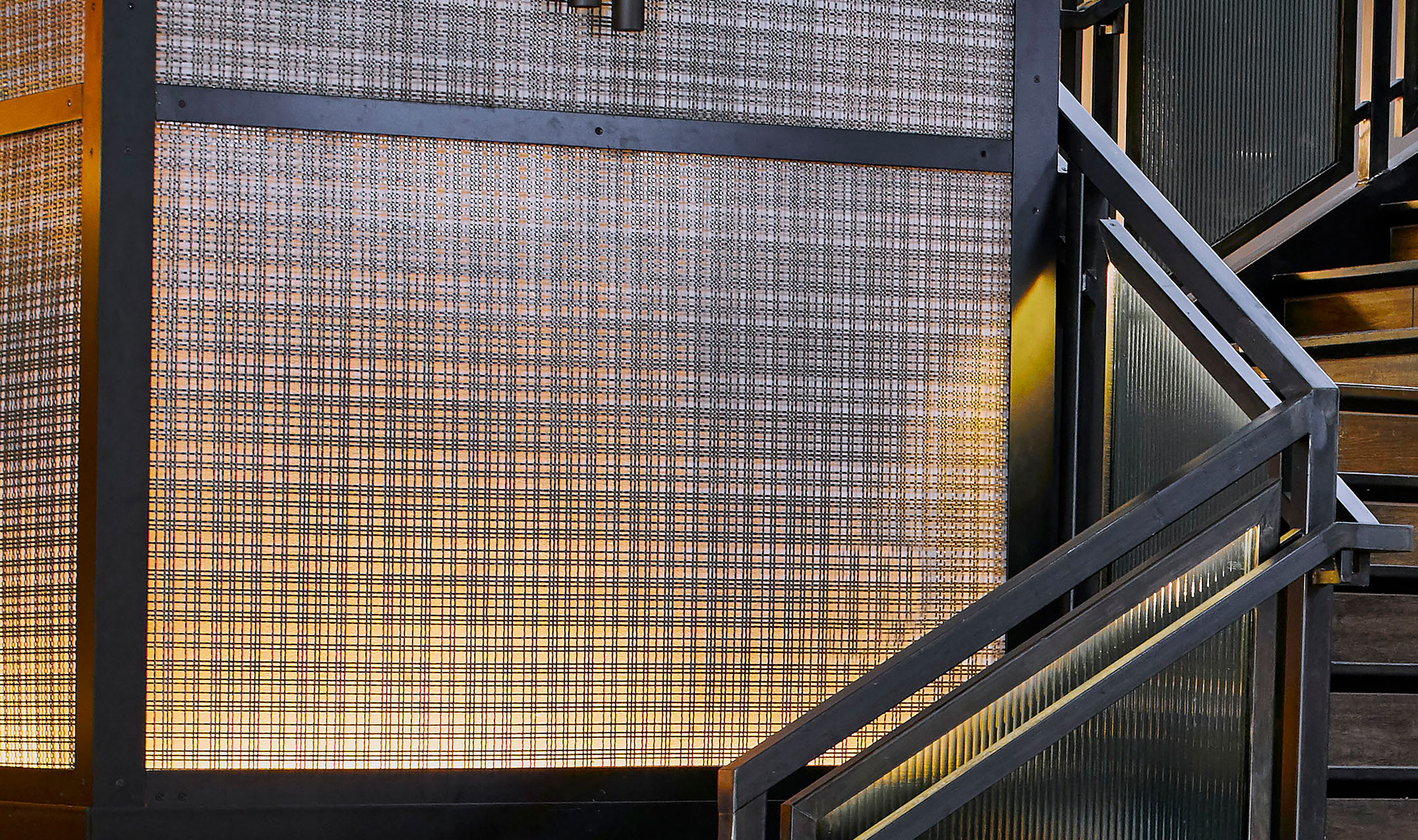 As a practical screen, Banker Wire's antique brass plated SJD-21 elevates the design vision of the Renaissance Nashville Hotel and Conference Center.