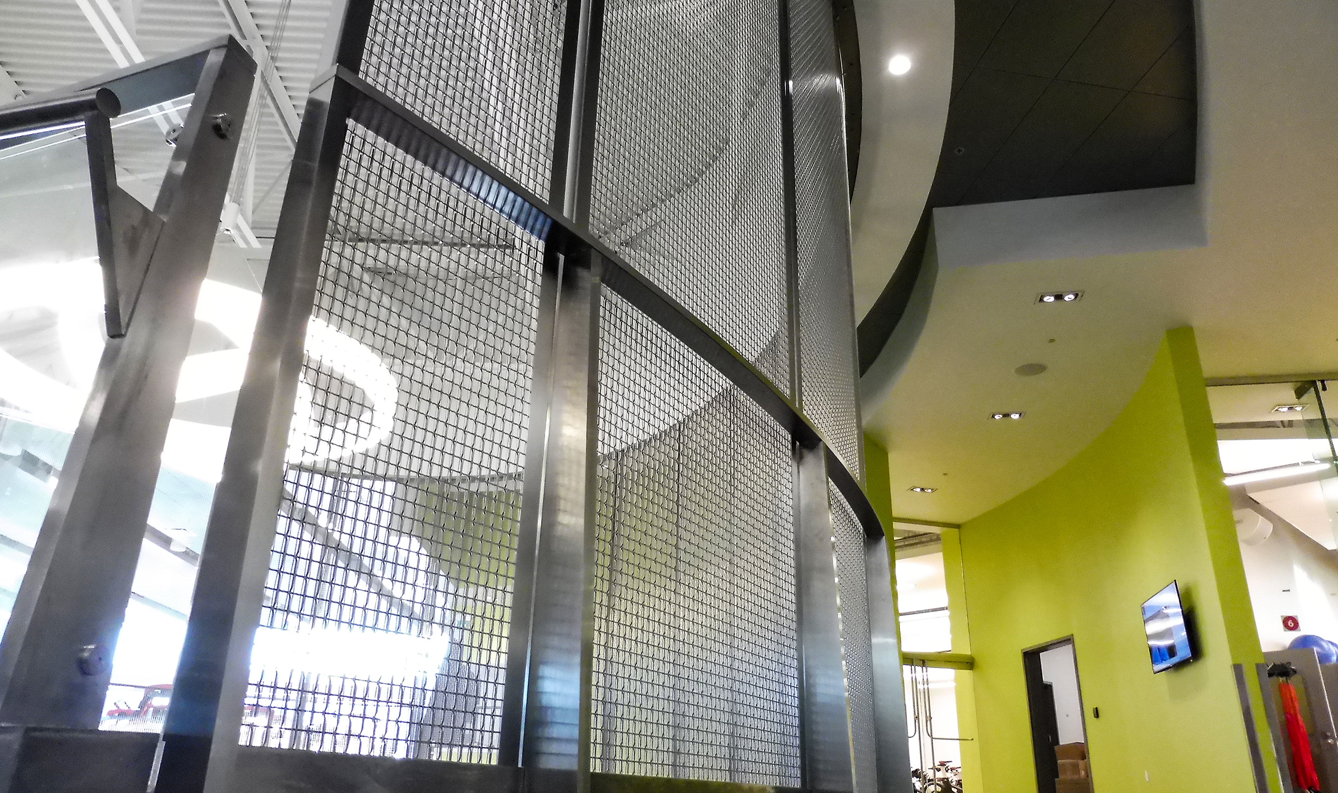 The visual texture that Banker Wire's SJD-7 woven wire mesh add to a space give a unique and modern appearance.