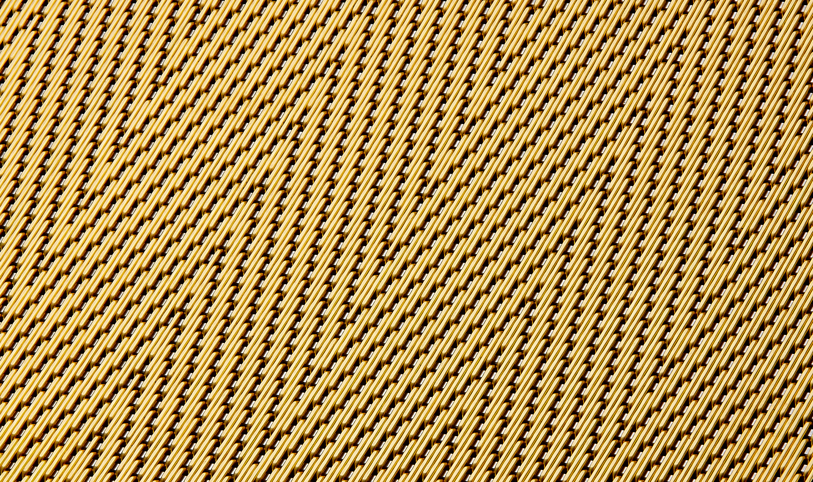 DT-1 decorative metal mesh woven in a Stainless Steel and Brass combination