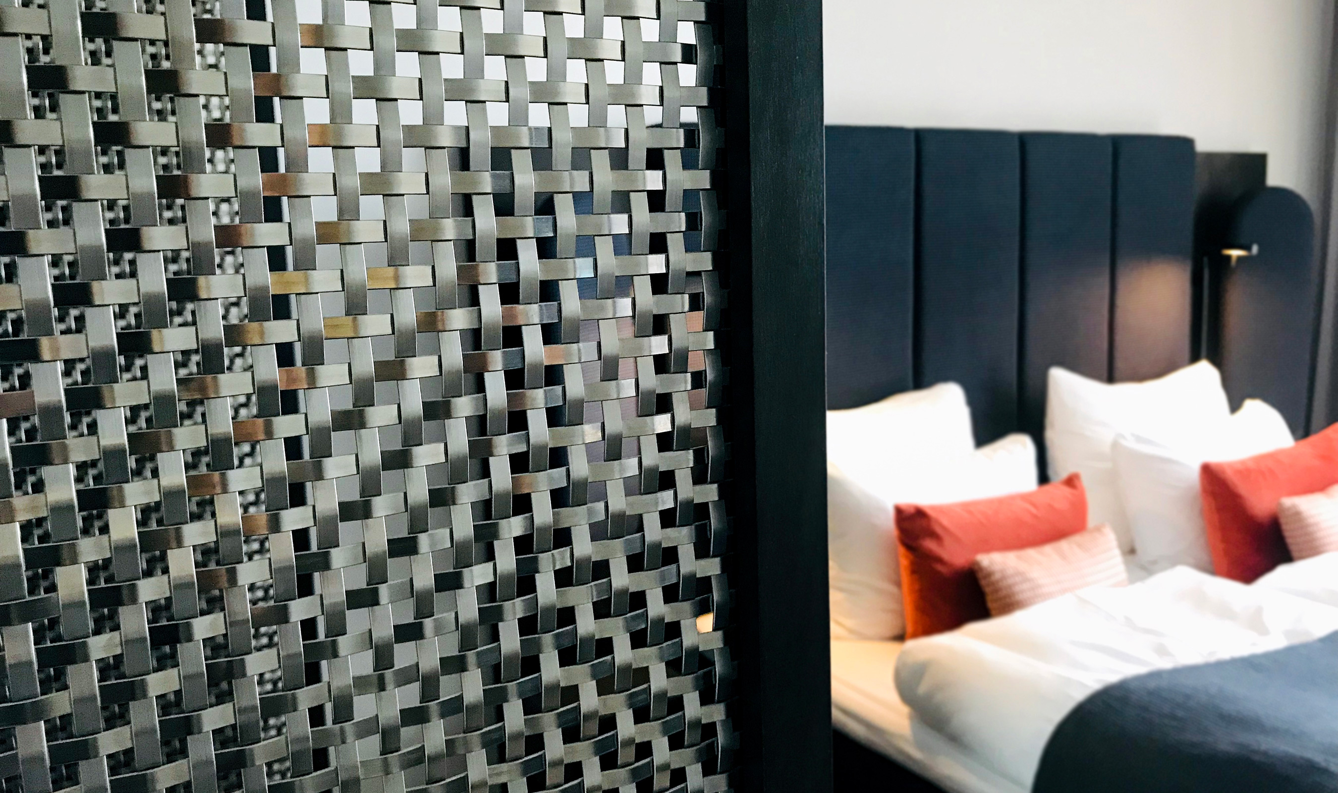 The reflective nature of S-30 adds a unique visual texture to the hotel rooms in the Clarion Hotel Oslo in Norway.