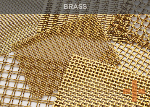 Banker Wire Brass Woven Wire Mesh