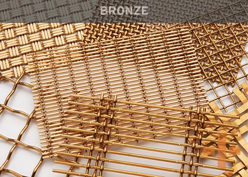 Banker Wire Bronze Woven Wire Mesh