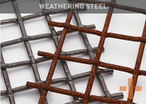 Banker Wire Weathering Steel Woven Wire Mesh