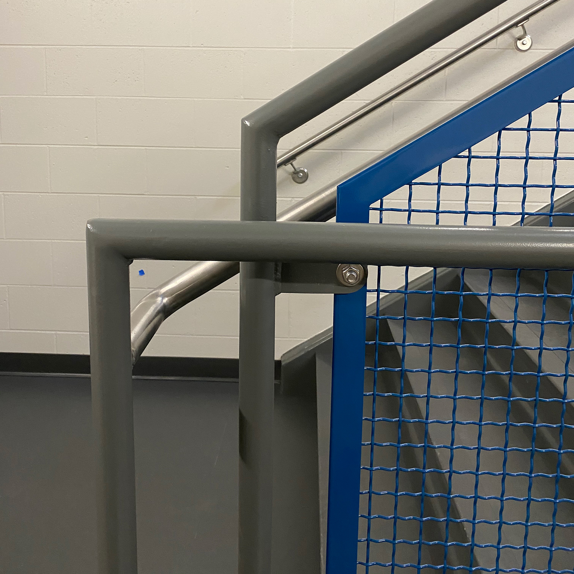 Woven wire mesh pattern I-188 is simple but elegant as a railing infill.