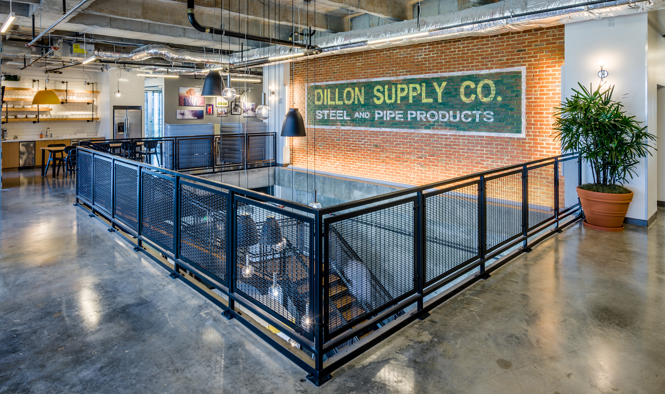 FPZ-16 provides a durable railing infill for the Spaces at the Dillon.