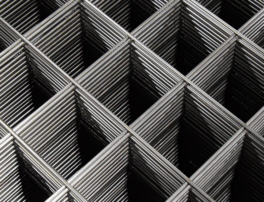 Neat stacks of Banker Wire's welded wire mesh display the uniformity of each panel.