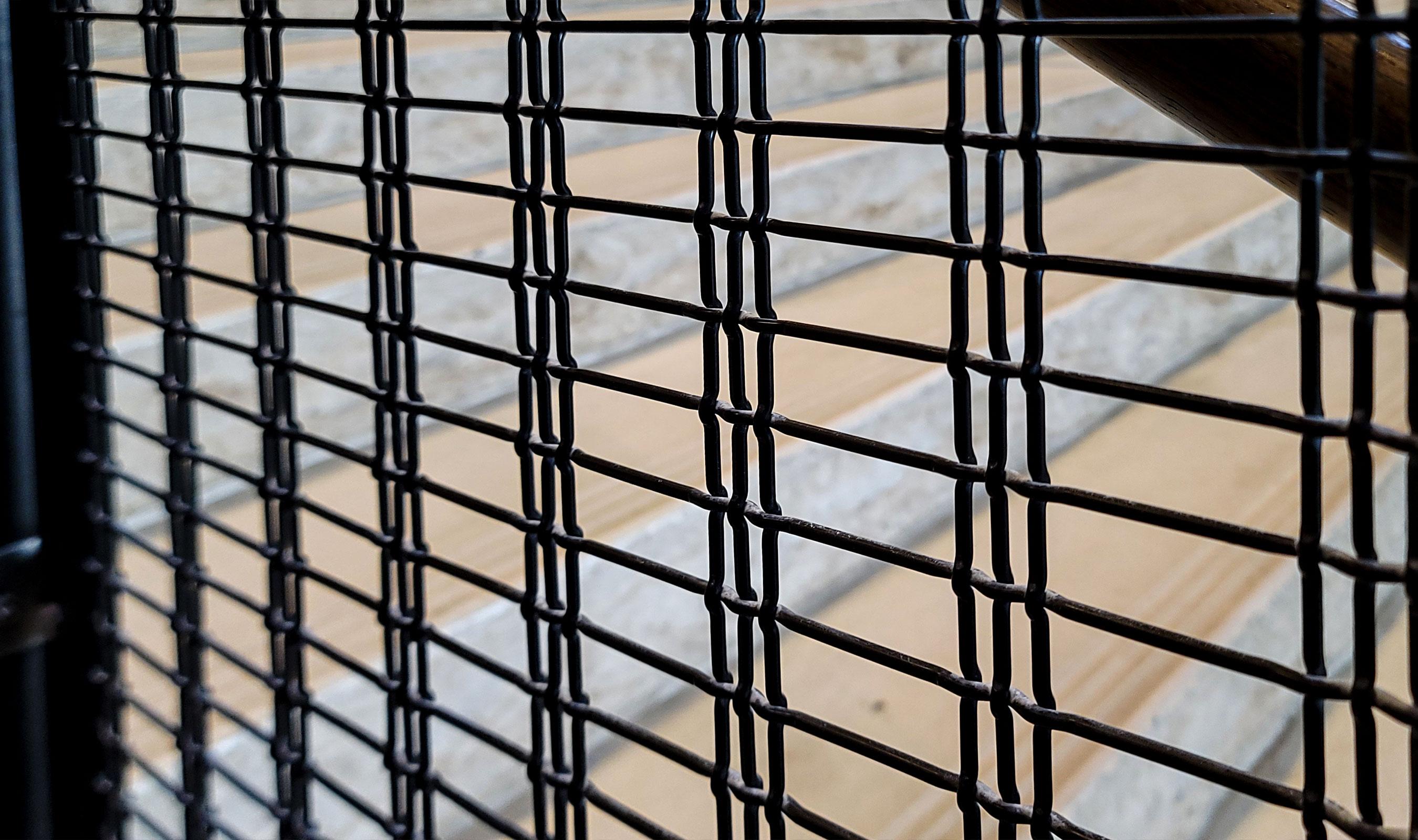 Woven wire mesh pattern M13Z-146 is a triple shute pattern with a horizontal flow.